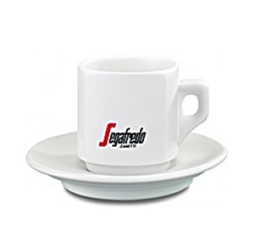 4 Segafredo Large Cups & Saucers  